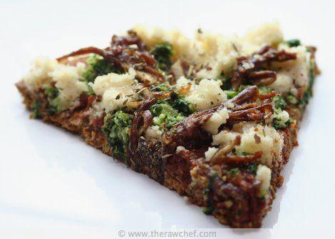 Raw Pesto & Caramelised Onion Pizza Recipe | The Raw Chef - Raw Food Recipes
