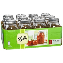 Buy Mason Jars Wholesale!! 10.99 for 12 of 32 oz... The link is on the pin kristan... Hope this helps