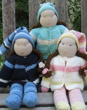 knit cherub dolls from A Toy Garden