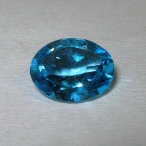 Permata Topaz Natural Warna Swiss Blue Oval 2.54cts ~ www.rawa-bening.com