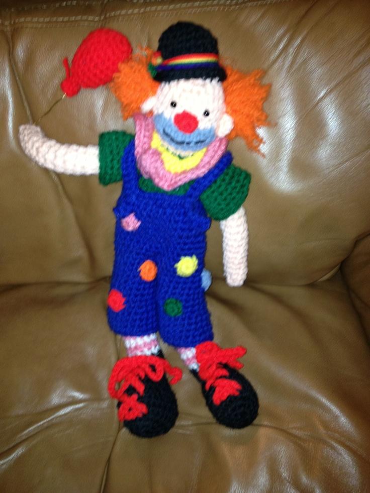 82 best clown haken images on Pinterest | Clowns, Häkelpuppen und ...