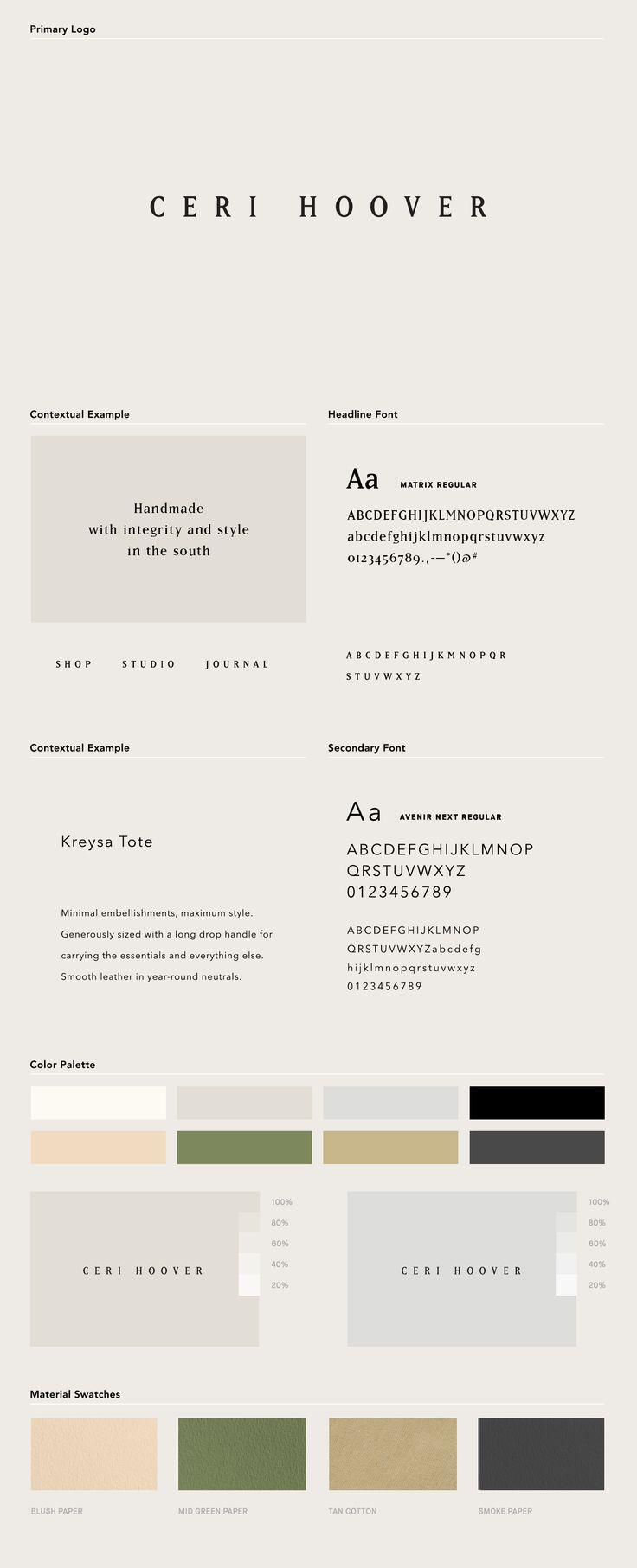 Ceri Hoover (Identity System) Julia Kostreva Studio