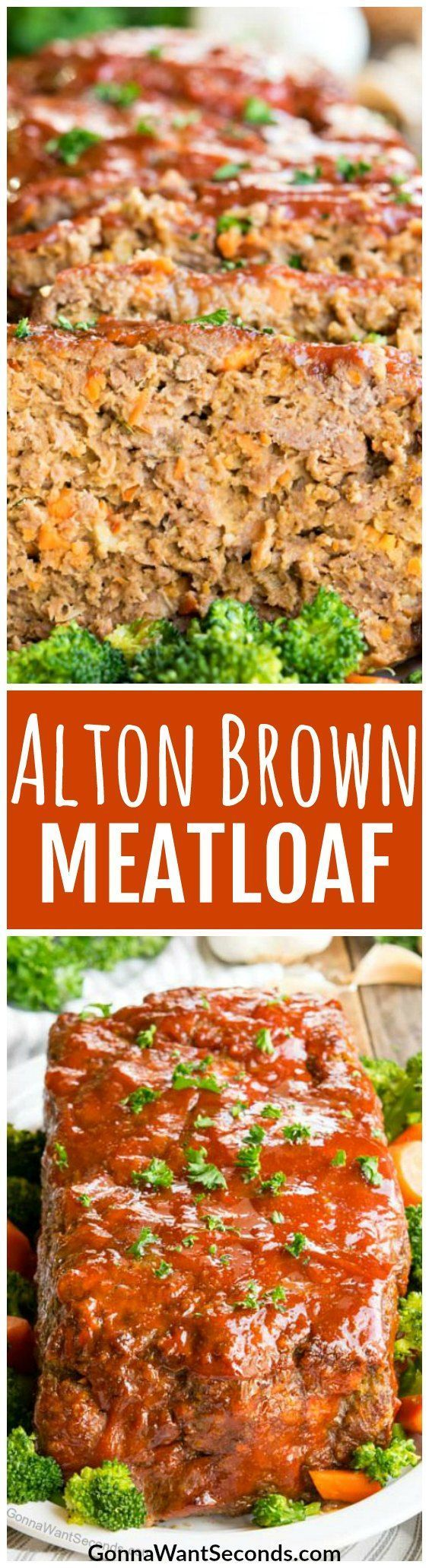 This classic recipe for Alton Brown Meatloaf comes out tender, moist and delicious every time. Its Easy and just maybe one of the Best Meatloaf Recipes out there! #Recipes #Easy #Crockpot #Classic #GroundBeef #Beef