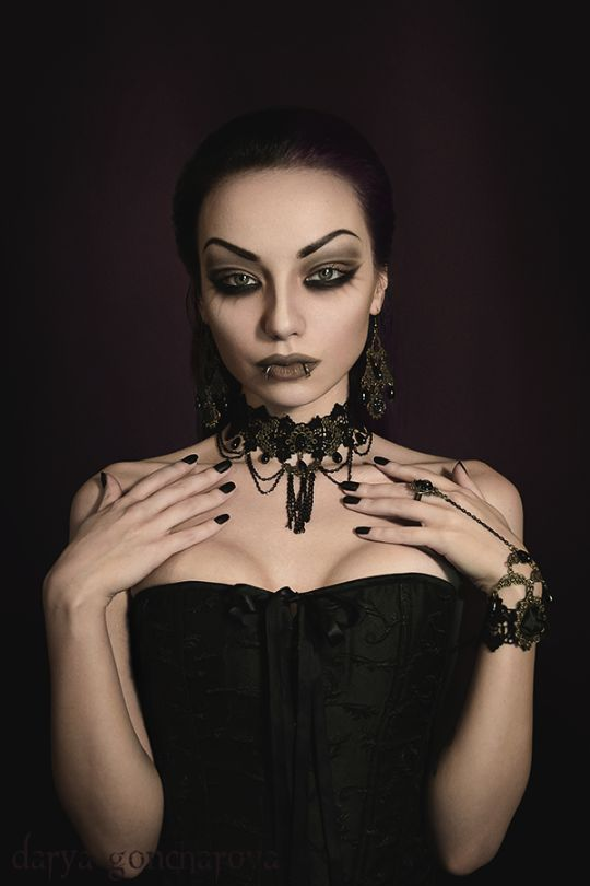 Model/ MUA/ Photo: Darya Goncharova Jewelry: Devilnight