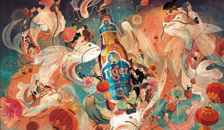 Victo Ngai for Tiger Beer