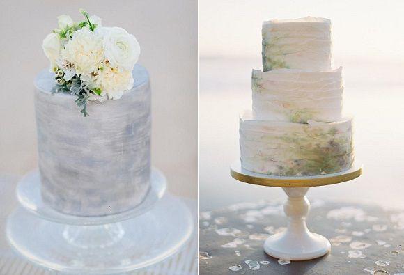 coastal wedding cakes by JuJu's Organic Delights, Adam Ward Photography left, Knead to Bake, Brett Heidebrecht Photography right