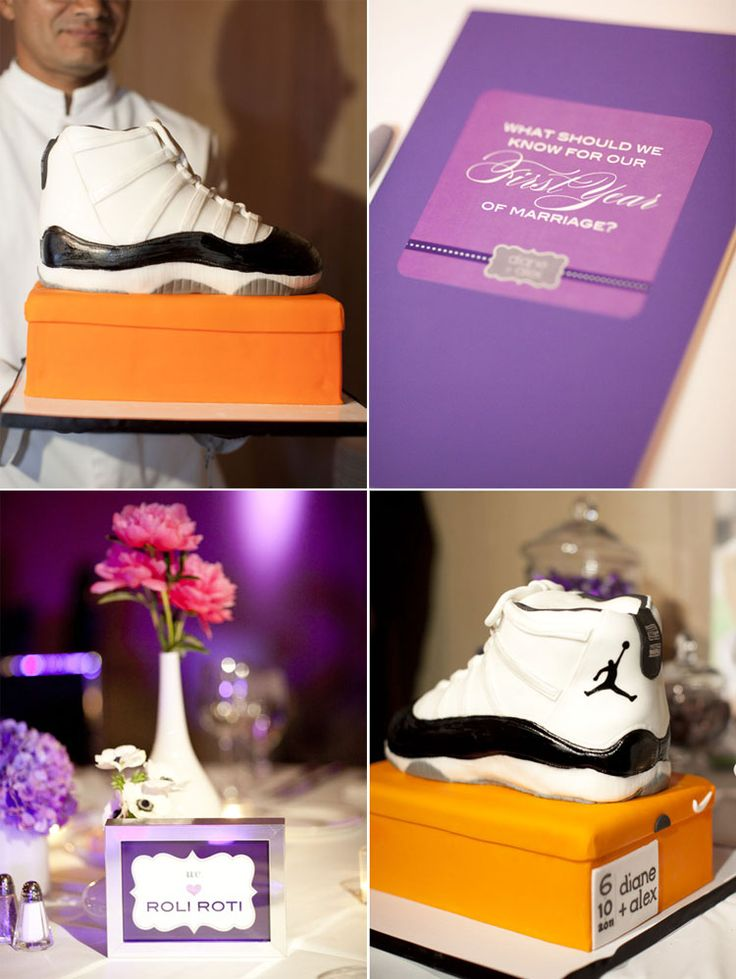 Nike sneaker groom's cake! Perfect for the basketball obsessed spouse