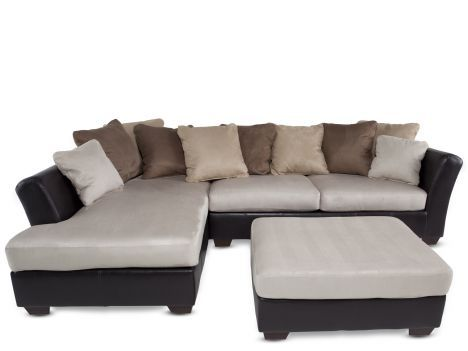 $938.95 Ashley Logan Stone Sectional & Ottoman