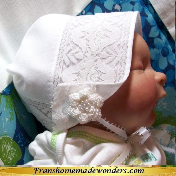 Handkerchief Christening Baby Bonnets
