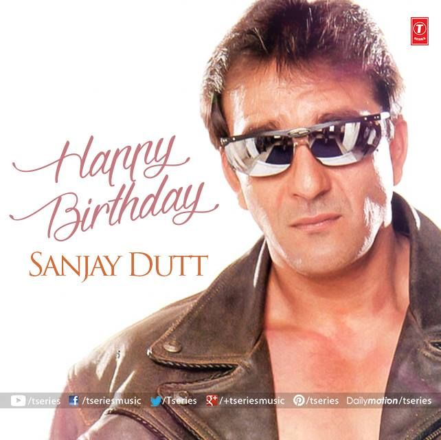 A Very Happy Birthday to the most versatile actor of our Bollywood Industry Sanjay Dutt  Treat for his fans awaits here--> http://bit.ly/1LX4O2Z  #TseriesMusic #SanjayDutt #BirthdayWishes