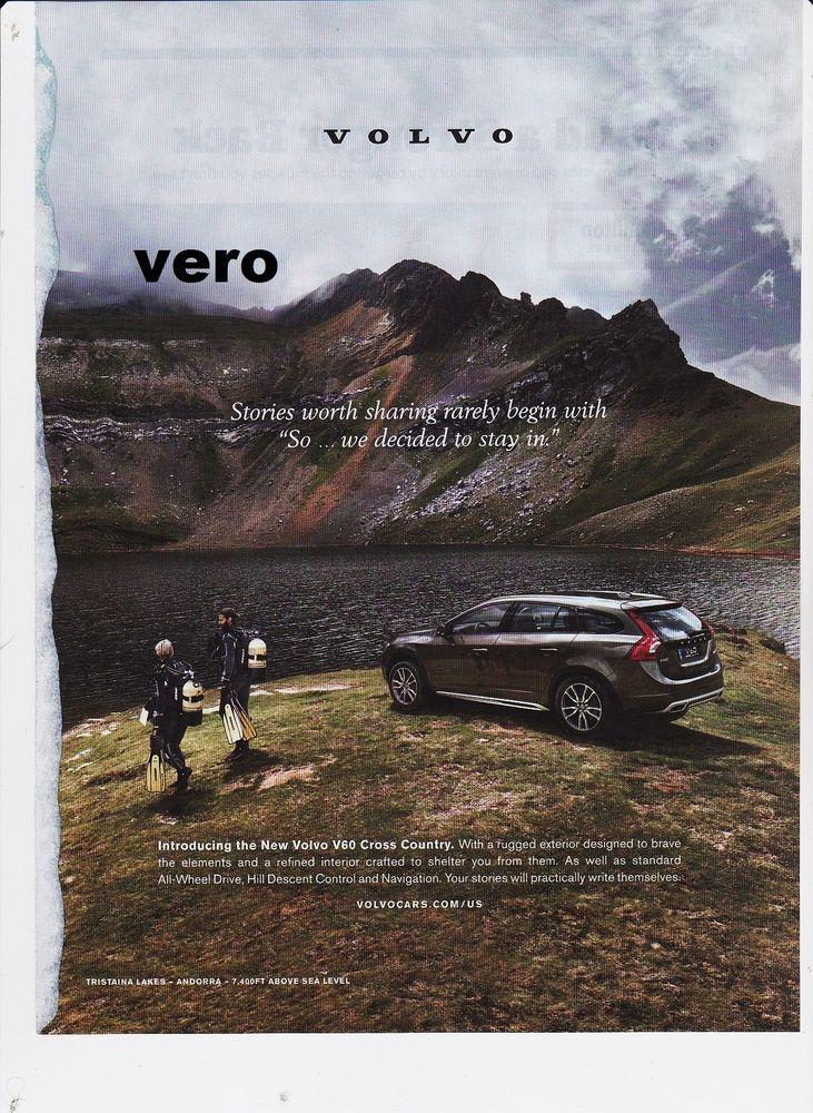 VOLVO V 60 cross country magazine ad 2015 print art clipping car automobile