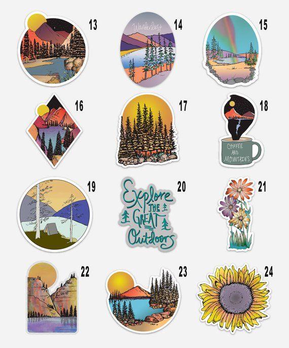 Build Your Own Vinyl Sticker 3 Pack Sticker Packs Etsy Aesthetic Stickers Stickers Packs Sticker Design