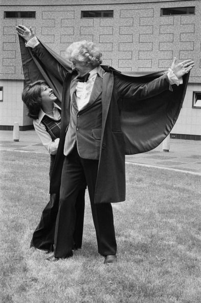 Jon Pertwee (Third Doctor) and Elisabeth Sladen (Sarah Jane Smith)