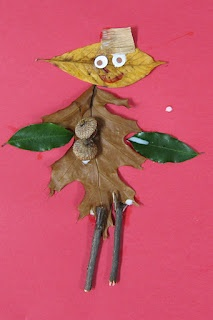 We made these for our Fall Unit, and the kids LOVED it!  Go for a walk with your child and find Leaf Man to build your own at home!