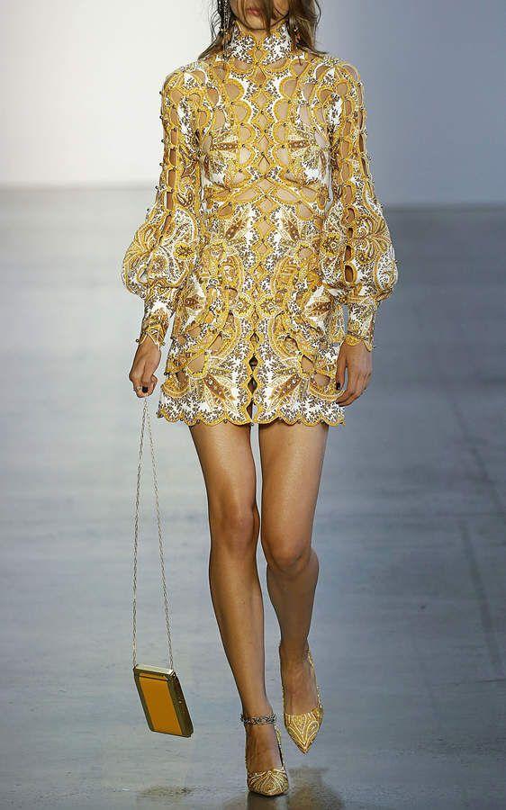 61aec7a7feb Zimmermann Zippy Scallop Silk And Linen Mini Dress affiliatelink ...