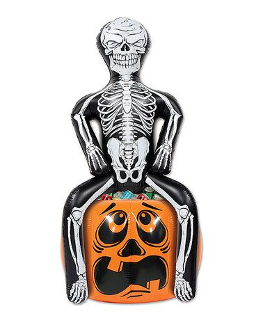 Look at this #zulilyfind! Inflatable Skeleton Party Pooper Cooler #zulilyfinds