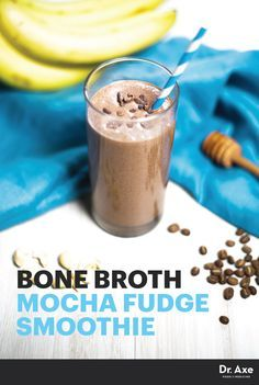 Mocha Fudge Smoothie with Bone Broth Protein