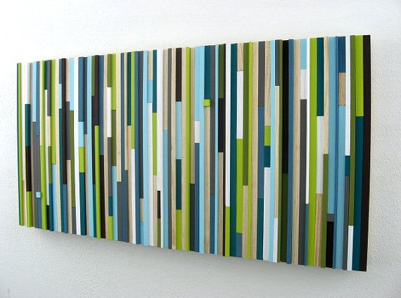 Modern Wood Sculpture Wall Art Upcycled Wood Painting on Etsy, $525.00 @sheacabe