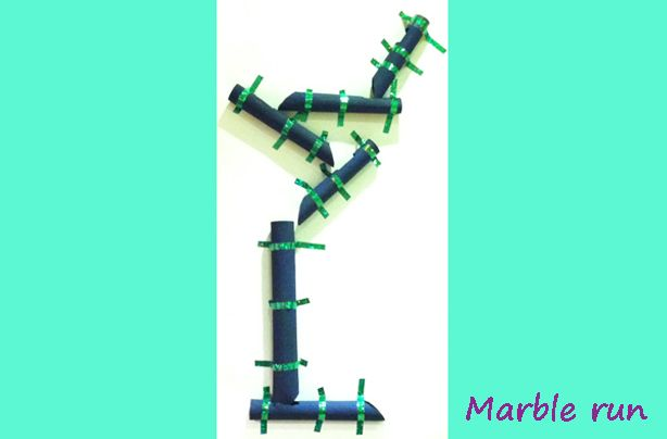 Toilet Marble Run : Toilet roll marble run craft things to make with a