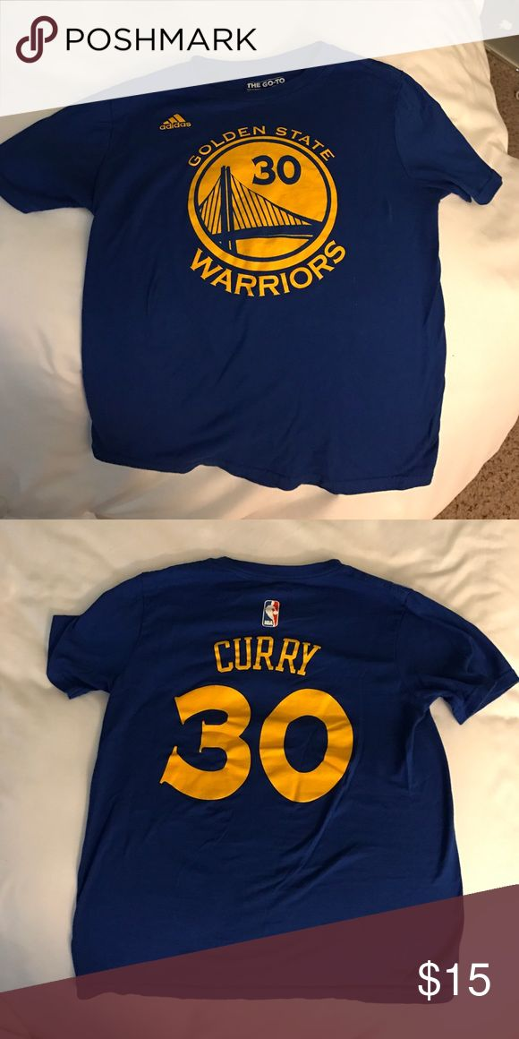 Golden Stare Warriors T-Shirt Too small for me now. Only wore one time! Youth M. Adidas Tops Tees - Short Sleeve