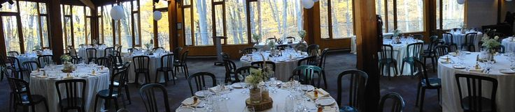Reception in the Forest Gallery overlooking the beautiful fall colors | Ryan & Leah, October 30 2015