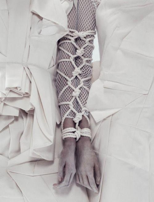 Pinsanity / karen cox.  White avant garde fashions. White textures.  By Paola Kudacki for i-D Summer 2013