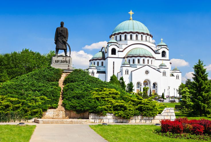 Temple of Saint Sava and monument of Karadjordje