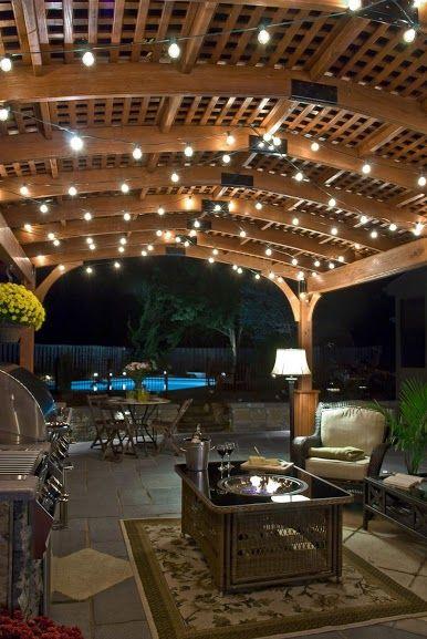Wood pergola interior http://www.backyardunlimited.com/pergolas