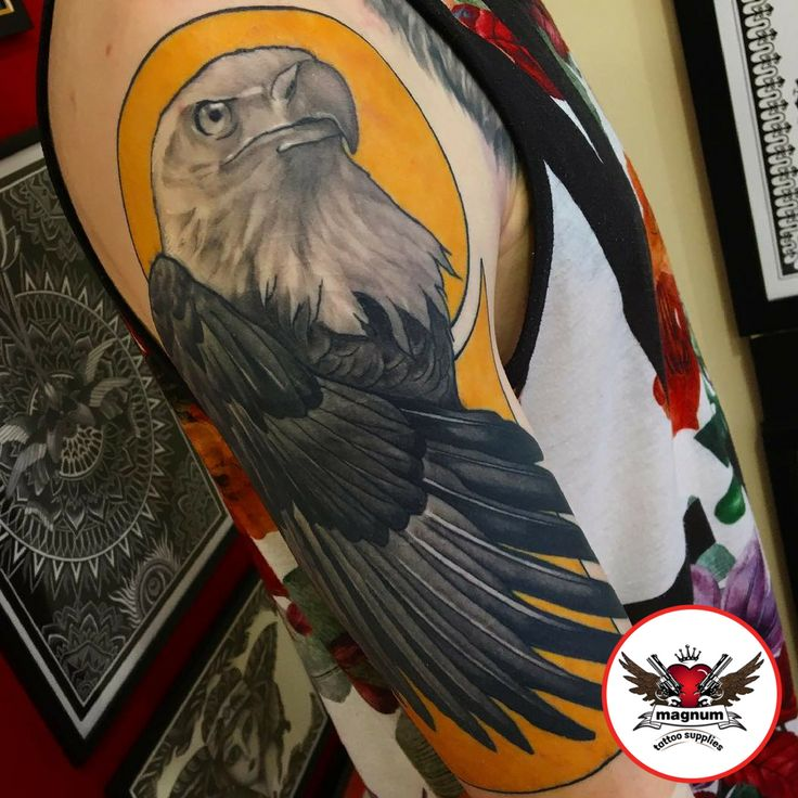 Jakegalleon's eagle ink done created with #magnumtattoosupplies 👊👊