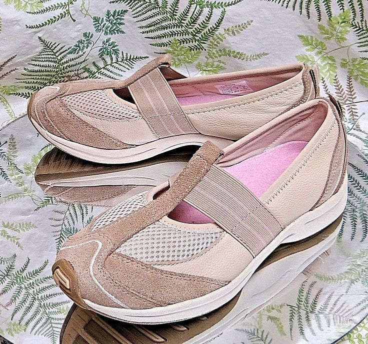 EASY SPIRIT BEIGE LEATHER MARY JANE LOAFERS DRESS COMFORT SHOES US WOMENS SZ 7 M #EasySpirit #MaryJanes #Casual