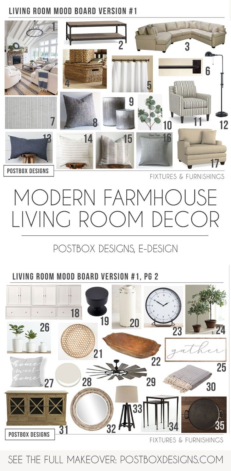 The Cheat Sheet 5 Modern Farmhouse Living Room Must Haves How