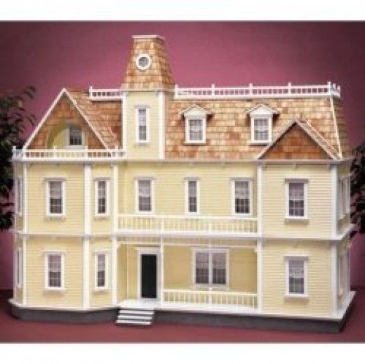 Instead of buying a ready made dollhouse, you can buy a wooden dollhouse kit and build it from scratch. Some of these are really fine replicas of  real house styles and  precious collectors items