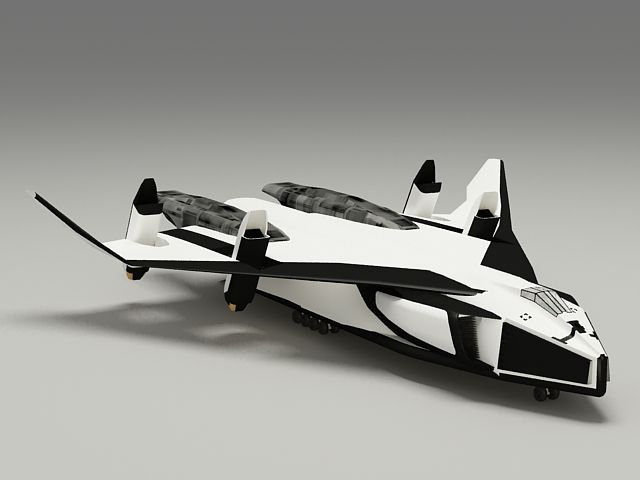 Avatar Space Shuttle 3d model 3ds Max files free download