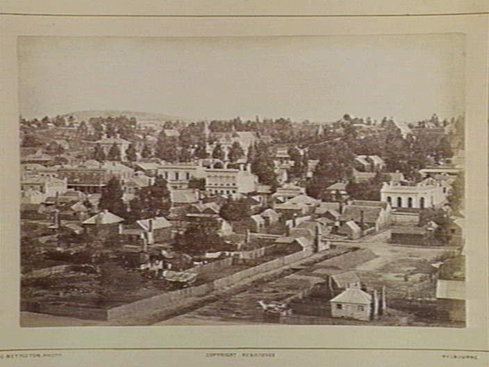 Clunes. View looking south 124 Miles N from Melbourne. [picture] , State Library of Victoria