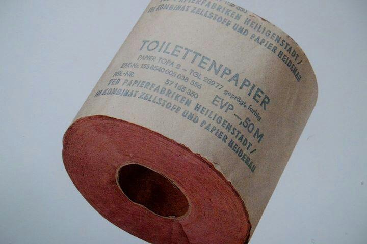 DDR Toilettenpapier es gab nur das eine, oder man nahm die Tageszeitung