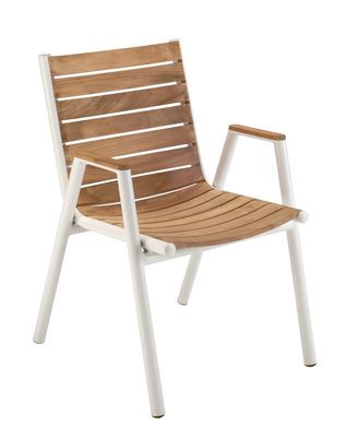 Pilotis Stackable armchair - Teak by Vlaemynck