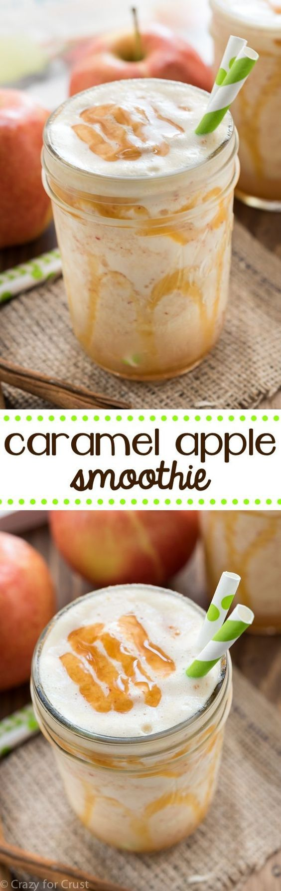 Caramel Apple Smoothie Recipe - an easy smoothie full of fall flavors. No added…