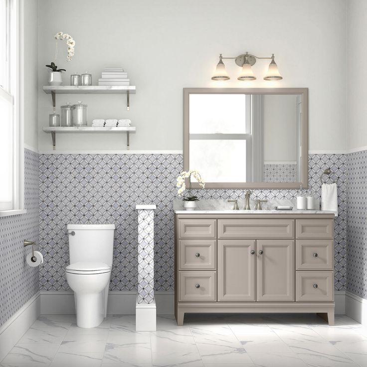 diamond freshfit calhoun 48 in cloud gray bathroom vanity on lowes vanity id=98134
