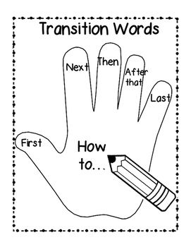 Help your students remember to use transition words when