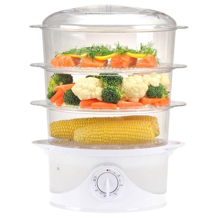 Kalorik 3-tier Food Steamer (Kalorik 3 Tier Food Steamer), White