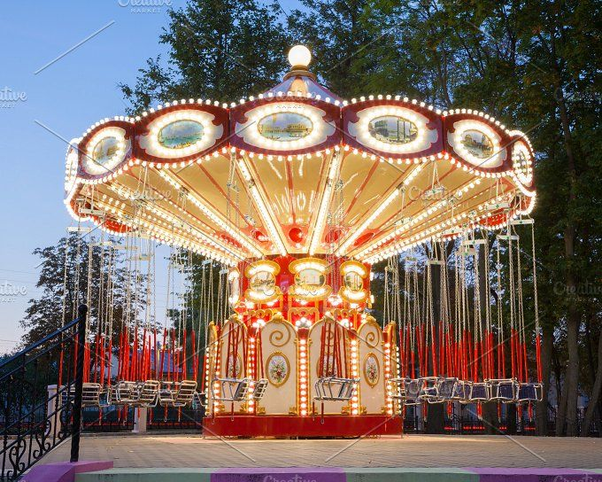 Illuminated carousel by chamillewhite on @creativemarket