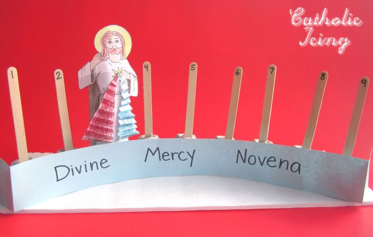 Divine Mercy Sunday is the Sunday after Easter, so if you're looking to pray a novena with your family, you start on Good Friday. Crafting this Divine Mercy Novena counter is a great way to get chi...
