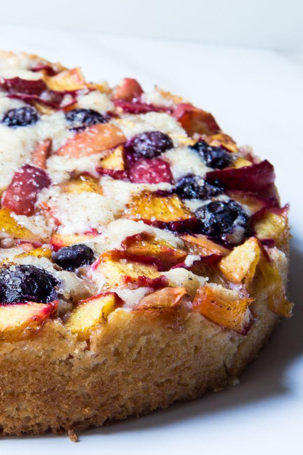 Summer Peach Cake by thewimpyvegetarian #Cake #Peach