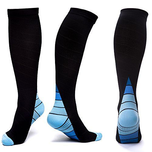 Compresion Socks for Men & Women-Graduated Compression Stockings for Running,Long Flights,Cycling,Hiking,Flying,Nurse or Pregnancy-Relieving Muscle Ache and Quicking the Recovery Speed (1 Pair)--4.95 #pregnancyandflying,