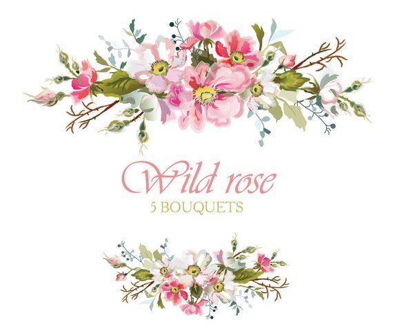 Rose Bouquets Watercolors Wild Flowers Png Clipart White Pink Etsy In 2021 Floral Signs Flowers Photography Wallpaper Wedding Shower Invitations