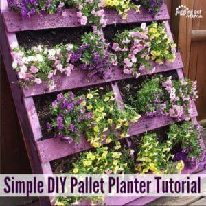 Simple DIY Pallet Planter Tutorial