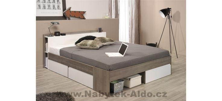 Manželská postel s šuplíky Most-1330L260