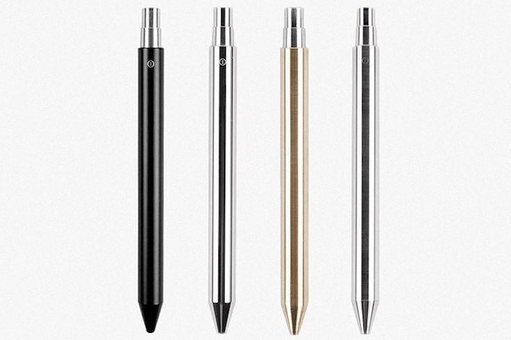 The Mechanical Pen comes in four unibody metal finishes for a stunningly sleek hold.