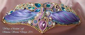 """Perline e Bijoux: Parure """"Wings of freedom"""" con seta shibori"""