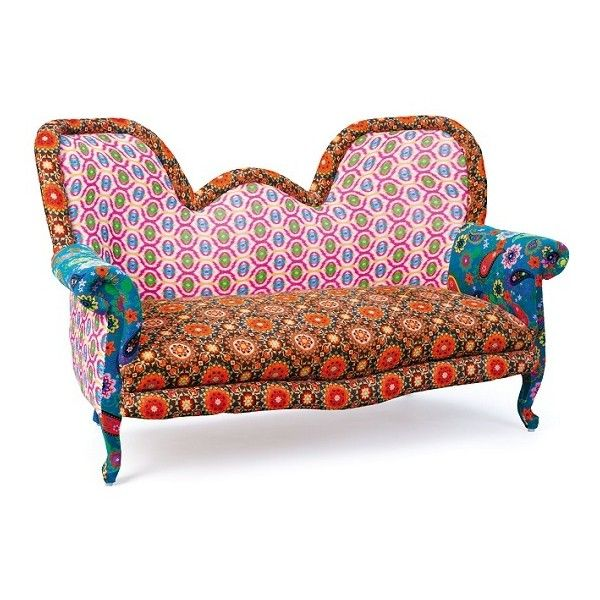 India Style Fabric Sofa Patchwork Style Multicoloured ($650) ❤ liked on Polyvore featuring home, furniture, sofas, upholstery sofa, fabric sofas, upholstery couch, indian furniture and patchwork sofa